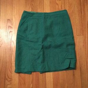 Gorgeous green wool pencil skirt